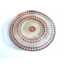 Lėkštė stikl. 33cm dekoruota C3402/BHA